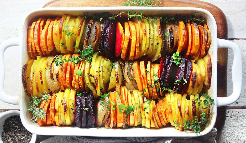 Ratatuille patate, cipolle, barbabietola