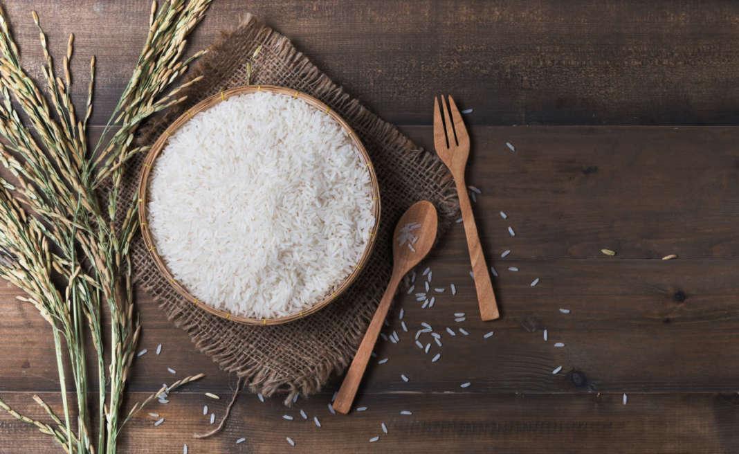 riso con spighe di riso