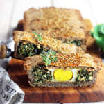 Torta salata di grano saraceno con erbette e uova