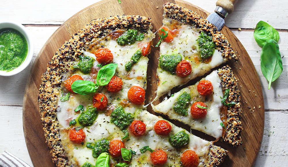 Pizza proteica di quinoa