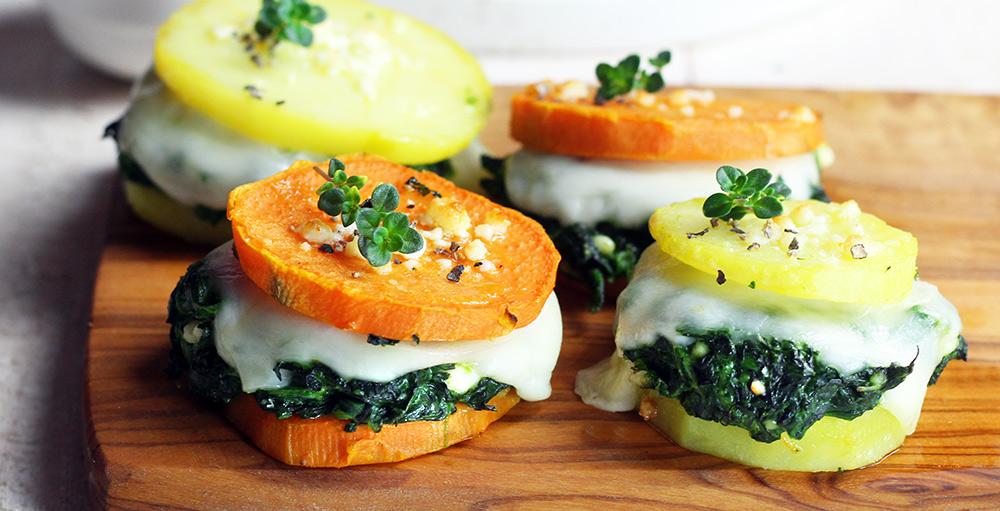 Sanwich di patate e spinaci