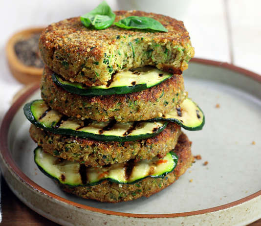 Burger zucchine e parmigiano