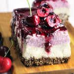 Cheesecake vegan alla ciliegia