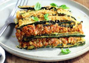 Lasagne di zucchine e ragù vegan