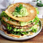Crepes proteiche senza glutine