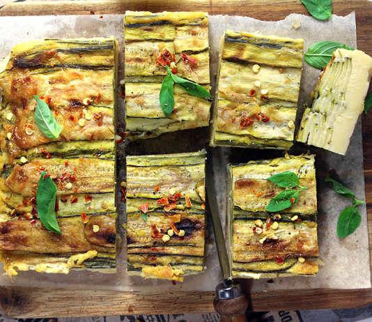 Farinata alta con zucchine
