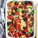 Insalata di riso con verdure al forno