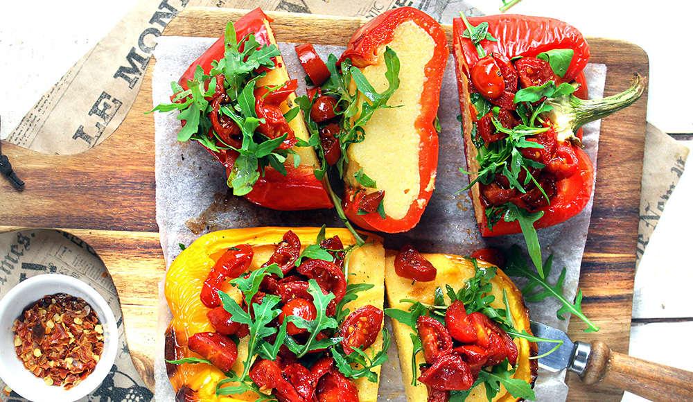 Peperoni ripieni di polenta