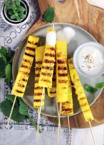 Ananas grigliato con salsa al Rum