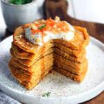 Pancakes vegan con carote