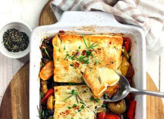 Verdure al forno con feta