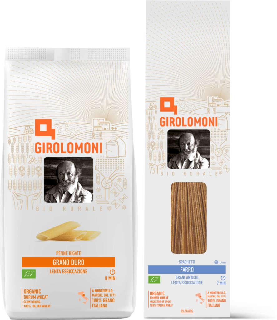 confezioni di pasta Girolomoni