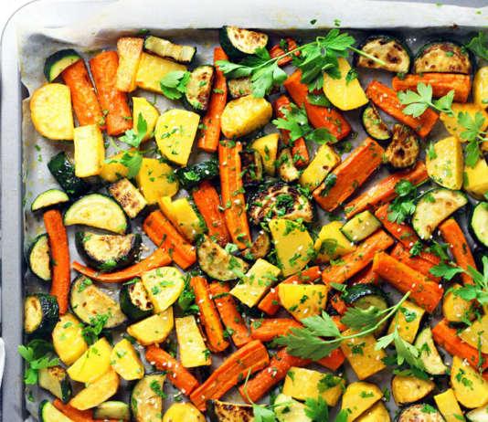 Patate, carote e zucchine al forno